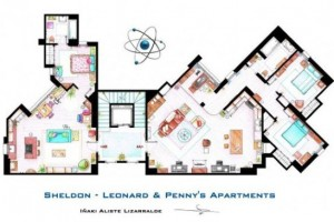 Plantas de casas dos seriados americanos big bang theory 1