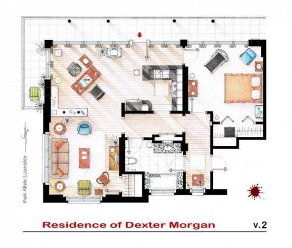 Plantas de casas dos seriados americanos dexter 2