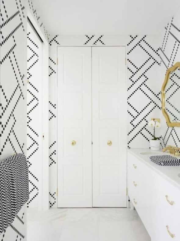 10 papéis de parede criativos para banheiro 002