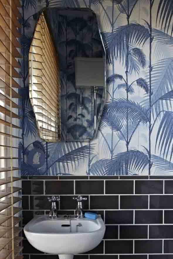 10 papéis de parede criativos para banheiro 003