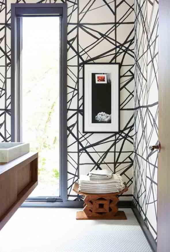 10 papéis de parede criativos para banheiro 004