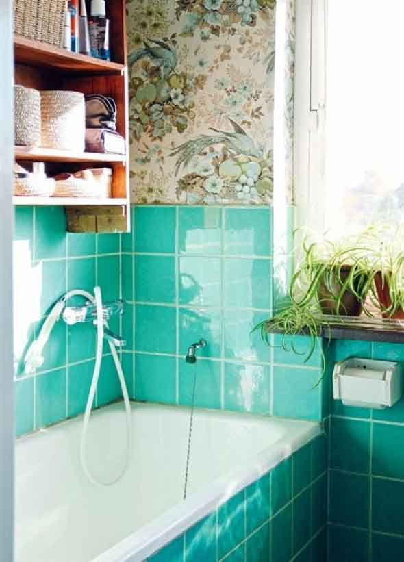 10 papéis de parede criativos para banheiro 005