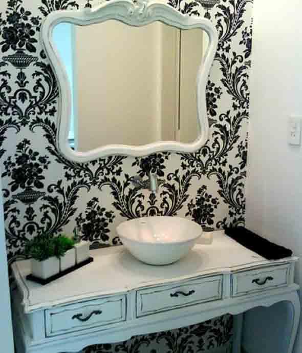 10 papéis de parede criativos para banheiro 006