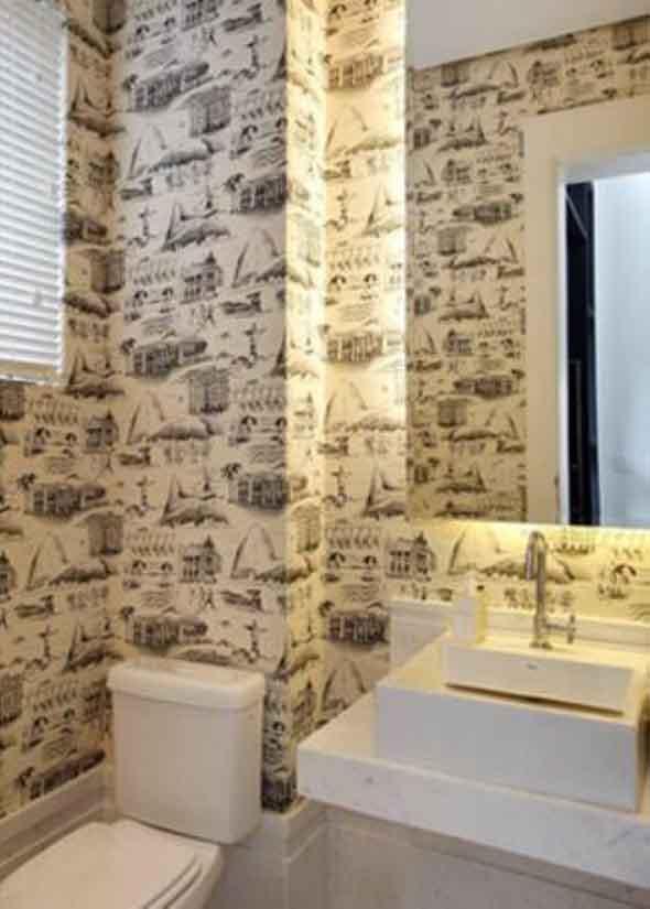 10 papéis de parede criativos para banheiro 008
