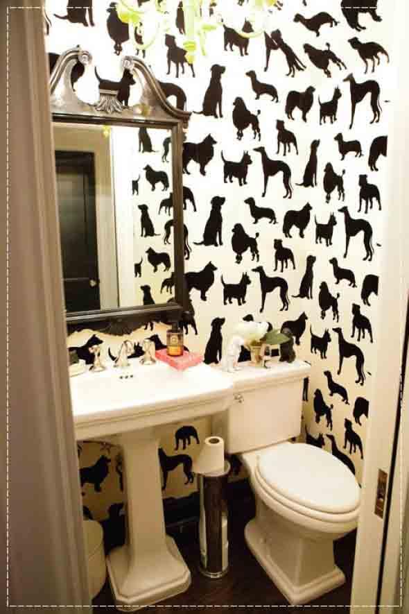 10 papéis de parede criativos para banheiro 009