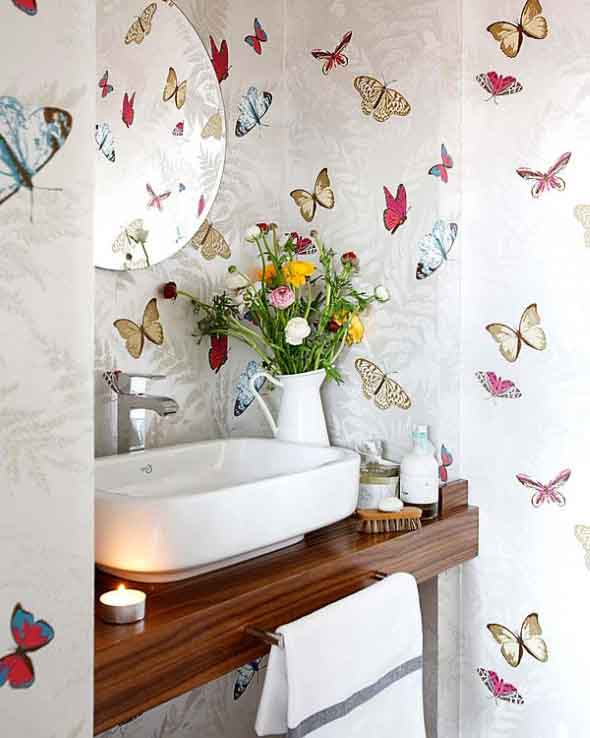 10 papéis de parede criativos para banheiro 010