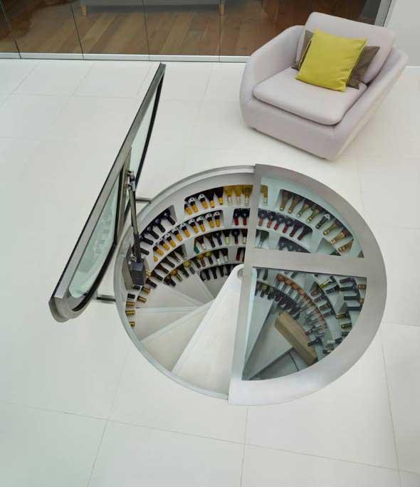 Adega em espiral, modernidade e praticidade para sua casa.