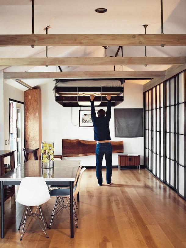 Cama retrátil ideal para interiores pequenos3