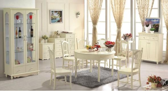 Decorar uma sala de jantar romântica 003