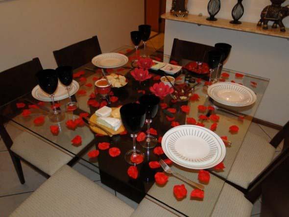 Decorar uma sala de jantar romântica 006