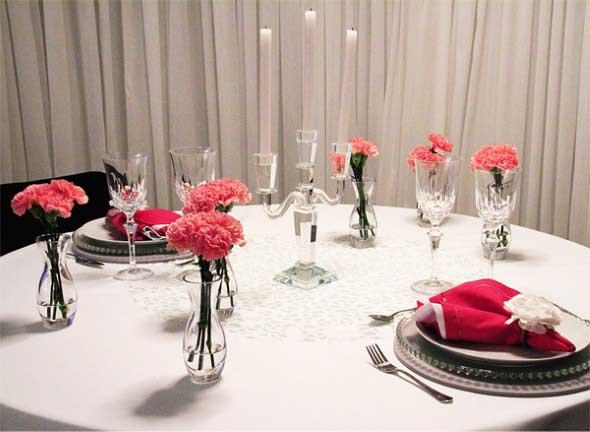 Decorar uma sala de jantar romântica 008