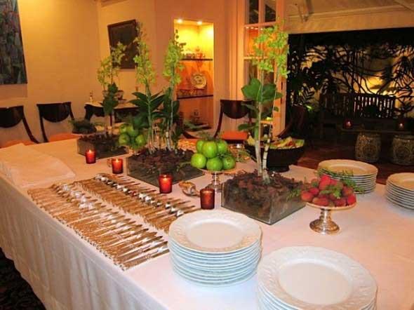 Decorar uma sala de jantar romântica 011