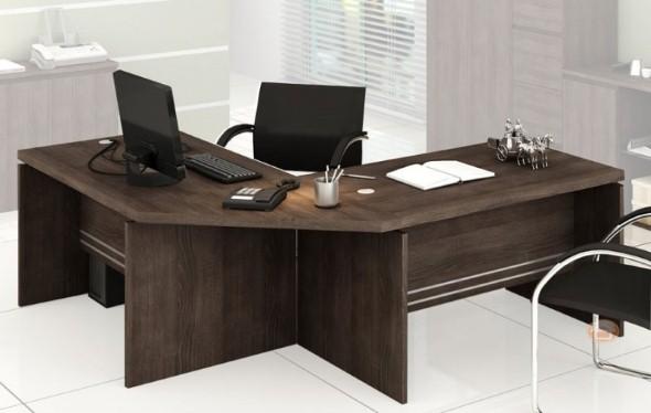 Mesas de escritório em L como usá-las 002