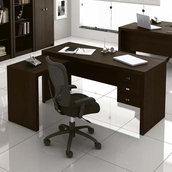 Mesas de escritório em L como usá-las 003
