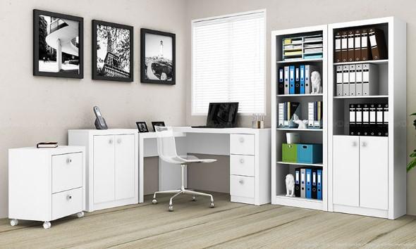 Mesas de escritório em L como usá-las 012