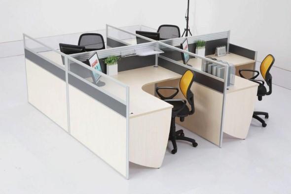 Mesas de escritório em L como usá-las 013