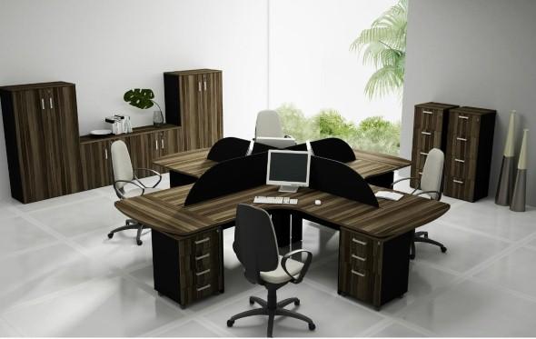 Mesas de escritório em L como usá-las 014