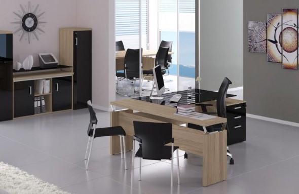 Mesas de escritório em L como usá-las 019