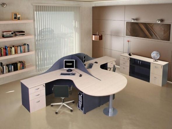Mesas de escritório em L como usá-las 021
