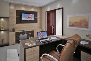 Mesas de escritório em L como usá-las 022
