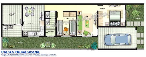 Plantas de casas de meio lote3
