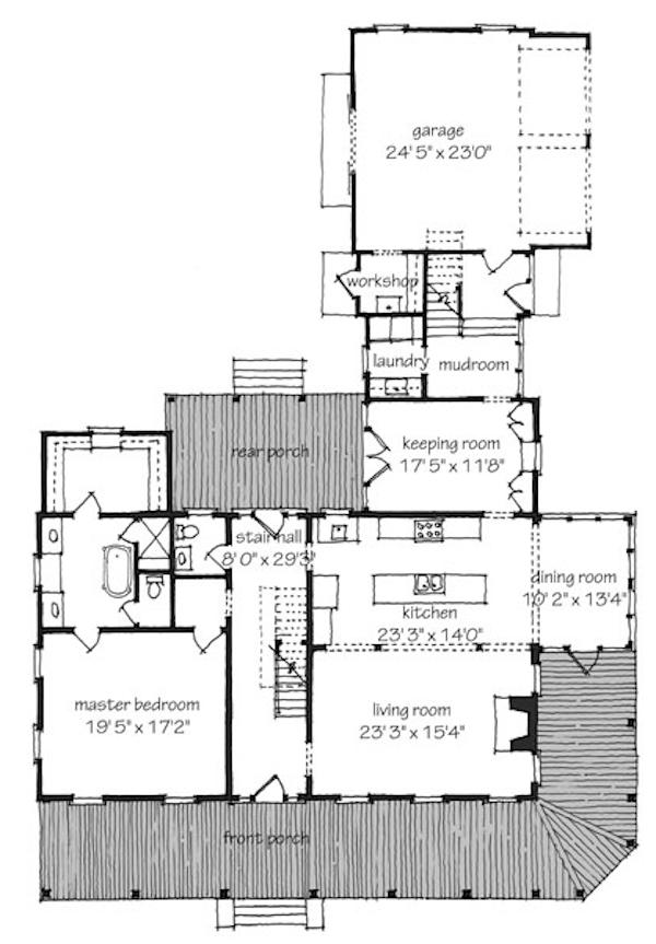 planta de casa bem dividida 34