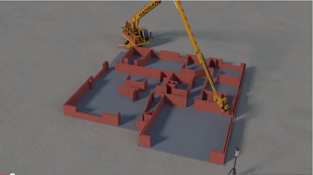 Robôs que conseguem assentar mil tijolos por hora1