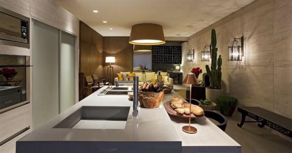 Bancadas em quartzo para cozinha 012