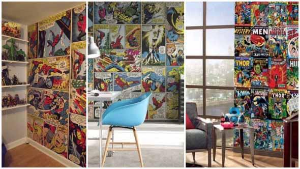 Casa decorada com história em quadrinhos 001