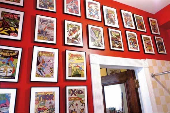Casa decorada com história em quadrinhos 004