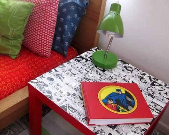 Casa decorada com história em quadrinhos 007