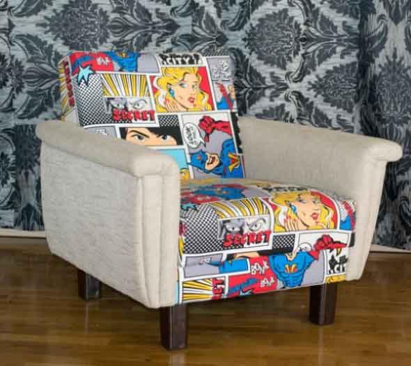 Casa decorada com história em quadrinhos 008