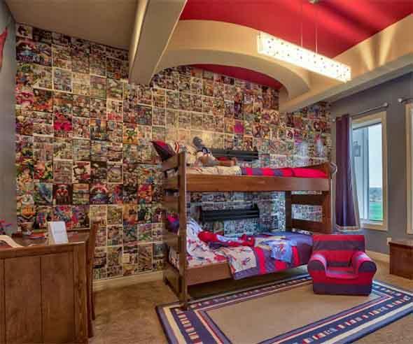 Casa decorada com história em quadrinhos 009