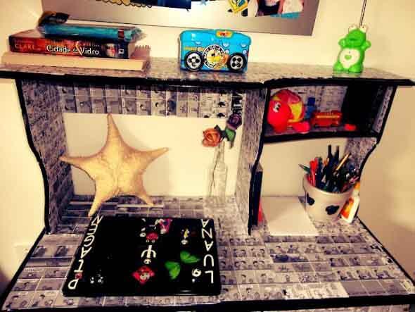 Casa decorada com história em quadrinhos 011