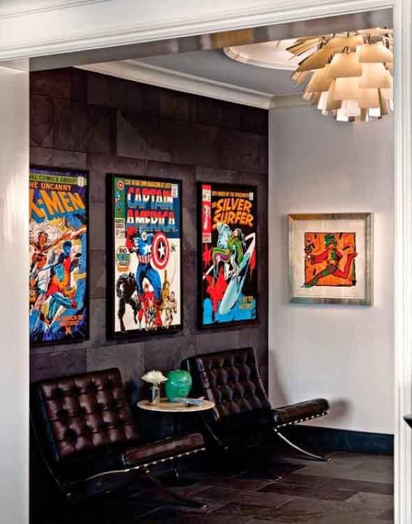 Casa decorada com história em quadrinhos 012