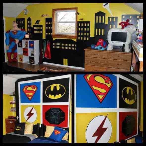 Casa decorada com história em quadrinhos 015