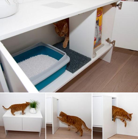 Móveis criativos para quem tem gatos 013