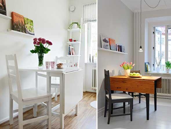 20 modelos de mesas pequenas para espa os pequenos - Mesa comedor pequena ...