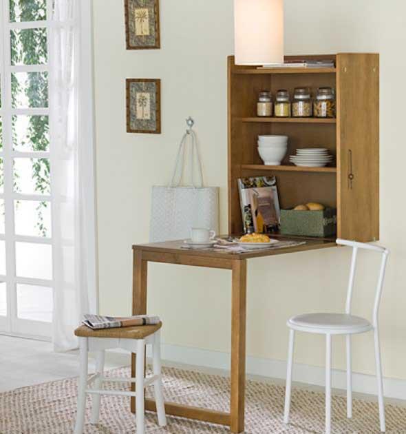 20 modelos de mesas pequenas para espa os pequenos for Mesas para apartamentos pequenos
