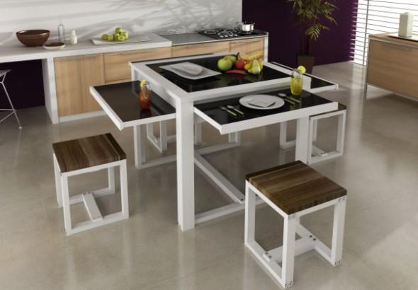20 modelos de mesas pequenas para espa os pequenos for Modelos de comedores pequenos