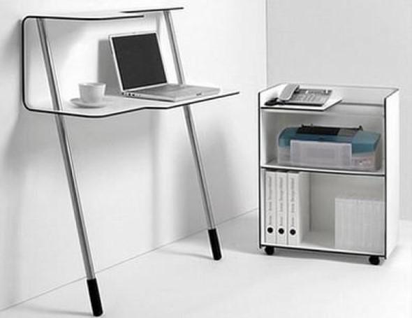 20 modelos de mesas pequenas para espa os pequenos for Piccole scrivanie