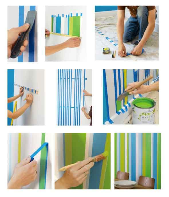 Como fazer listras nas paredes 004