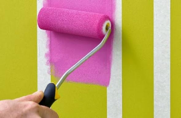 Como fazer listras nas paredes 014