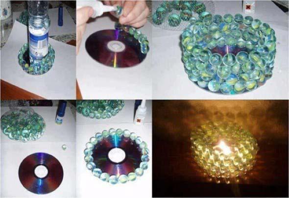 Como fazer uma luminária com bolas de gude 004