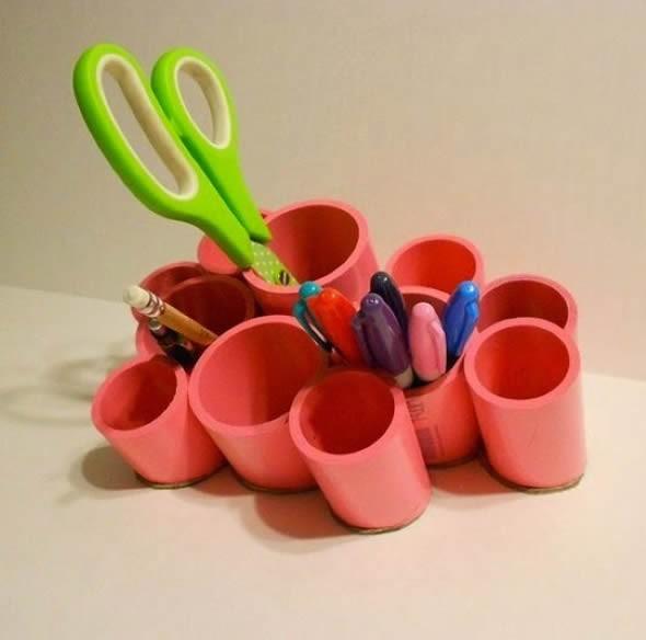 Criatividade com canos na decoração 001