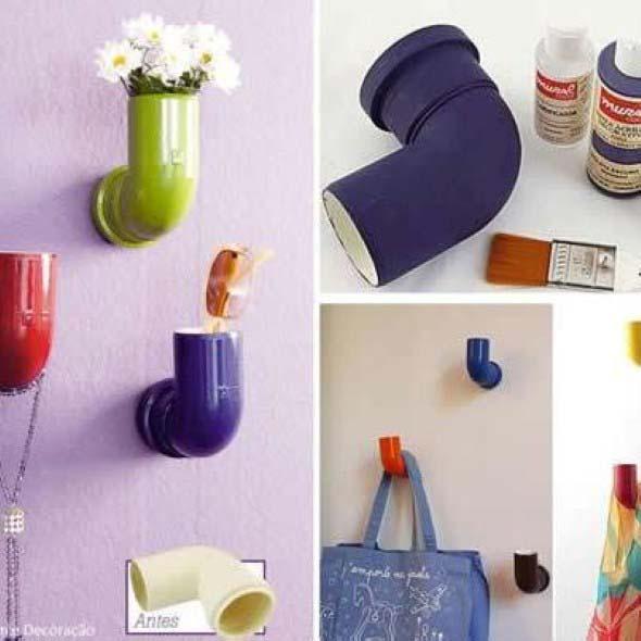 Criatividade com canos na decoração 014