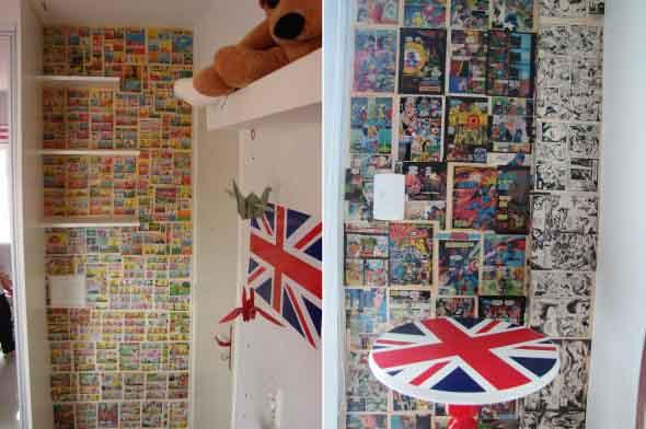 Decore seu quarto com fotos e revistas variadas 005