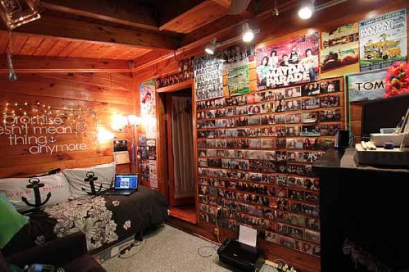 Decore seu quarto com fotos e revistas variadas 012