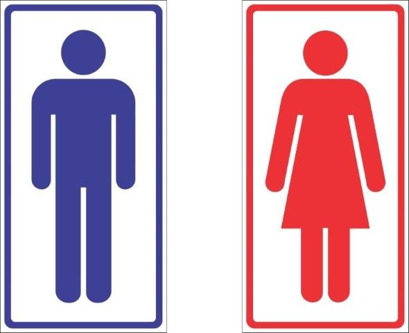15 modelos de placas de banheiro engraçadas e criativas -> Banheiro Feminino Simbolo