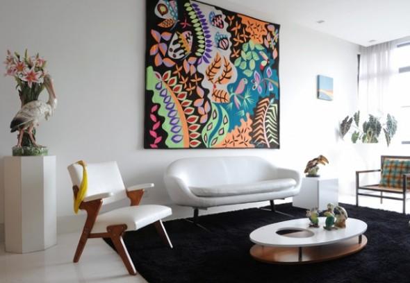 Decoração com tapeçarias nas paredes 001
